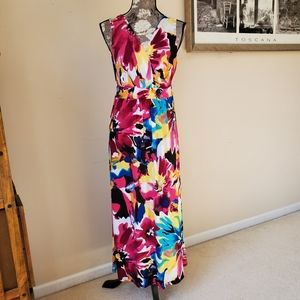 Bright & Beautiful Floral Maxi Dress Sz. S